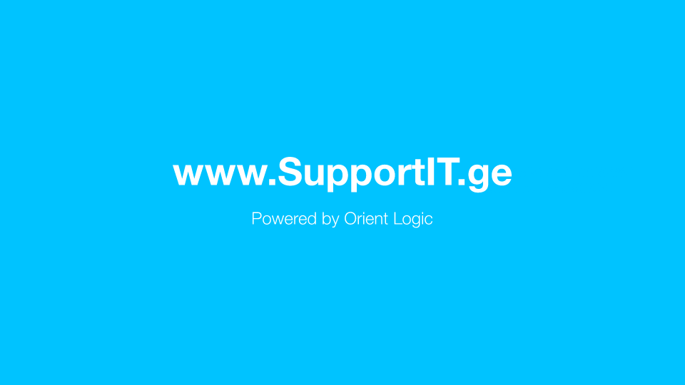 """""""SupportIT.ge"""" – New Technological Platform from """"Orient Logic"""" to Encourage Georgian Businesses and Public Sectors"""